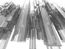 Grande ville de vol illustration stock