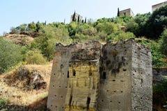 Grande ville historique de Grenade de l'Espagne-Andalousie, vieille ville Images stock