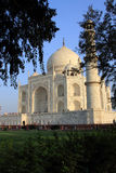 Grande visita do número de pessoas o mausoléu de mármore branco Taj Mahal em Agra, Índia Imagens de Stock