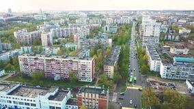 Grande vista aerea della molla della città Paesaggio urbano di Minsk video d archivio