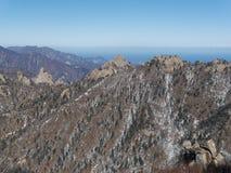 Grande vista alle belle montagne Fotografie Stock