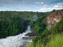Grande vista da garganta com cachoeira  Fotografia de Stock