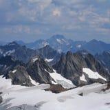 Grande vista dalla cima del Mt Titlis a Oberalpstock Fotografie Stock Libere da Diritti