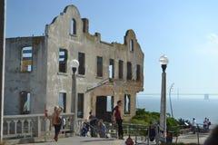 Grande vista de Alcatraz em San Francisco Imagem de Stock Royalty Free