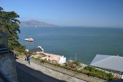 Grande vista de Alcatraz em San Francisco Imagem de Stock