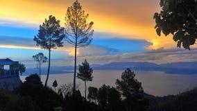 Grande vista de Huta Ginjang Fotos de Stock Royalty Free