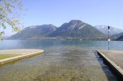 Grande vista del lago annecy dal san Jorioz Fotografie Stock