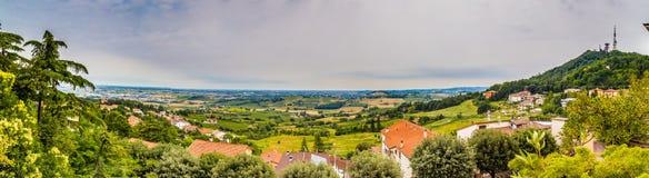 Grande vista della campagna di Romagna in Italia Fotografia Stock Libera da Diritti
