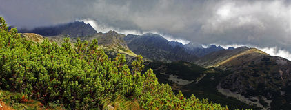 Grande vista delle montagne di Tatra Fotografia Stock Libera da Diritti