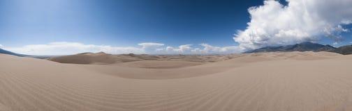 Grande vista panoramica delle dune di sabbia Fotografia Stock