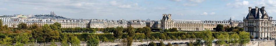 Grande vista panoramica di Parigi dal tetto di Orsay del ` di Musee d immagine stock libera da diritti