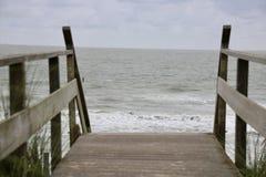 Grande vista sobre o mar das dunas foto de stock