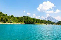 Grande vista sul bello lago Fotografia Stock Libera da Diritti