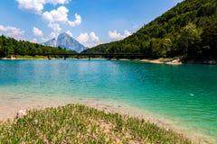 Grande vista sul bello lago Fotografia Stock