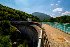 Grande vista sulla grande diga Immagini Stock Libere da Diritti