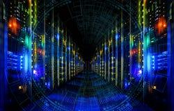 Grande visualisation d'abrégé sur données Conception esthétique futuriste Grand fond de données avec des éléments de HUD E photographie stock libre de droits