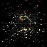 Grande visualisation 3d de données illustration stock