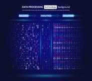 Grande visualisation de données Concept d'analytics de l'information L'information abstraite de courant Algorithmes de filtrage d illustration libre de droits