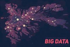 Grande visualisation de données de terrain Carte futuriste infographic Visualisation topographique complexe de graphique de donné Image libre de droits