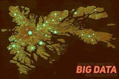 Grande visualisation de données de terrain Carte futuriste infographic Visualisation topographique complexe de graphique de donné Image stock