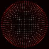 Grande visualisation de données Fond 3D Grand fond de connexion de données Réseau de fil de technologie de la technologie AI de C illustration libre de droits