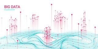 Grande visualisation de données de la vague 3D Analyse Infographic illustration libre de droits