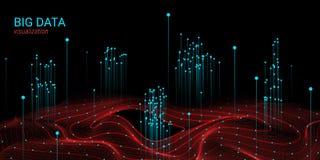 Grande visualisation de données de la vague 3D Analyse Infographic illustration stock