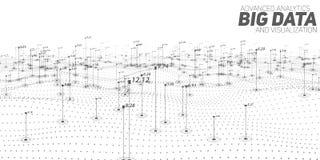 Grande visualizzazione del diagramma di gradazione di grigio di dati Infographic futuristico Progettazione estetica di informazio illustrazione di stock