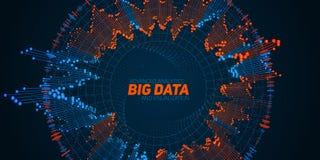 Grande visualizzazione della circolare di dati Infographic futuristico royalty illustrazione gratis