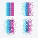 Grande visualizzazione di dati Algoritmo del computer di tecnologia illustrazione di stock
