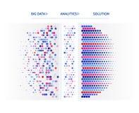 Grande visualizzazione di dati Concetto di analisi dei dati di informazioni Informazioni astratte della corrente Algoritmi a macc illustrazione di stock