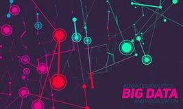 Grande visualizzazione di dati Infographic futuristico Progettazione estetica di informazioni Complessità di dati visiva illustrazione vettoriale