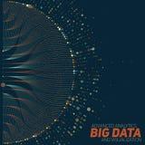 Grande visualizzazione di dati Infographic futuristico Progettazione estetica di informazioni Complessità di dati visiva Fotografia Stock Libera da Diritti