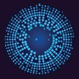 Grande visualizzazione di dati Rappresentazione della rete sociale Fotografia Stock