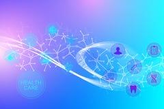 Grande visualizzazione genomica di dati Elica del DNA, filo del DNA, molecola della prova del DNA o atomo, neuroni Struttura astr illustrazione vettoriale