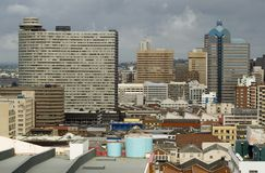 Grande vita di città Fotografie Stock Libere da Diritti