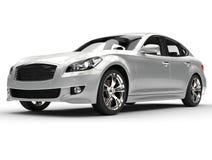 Grande voiture de luxe argentée Photos libres de droits