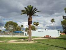 Grande vue à la piscine de parc Photographie stock