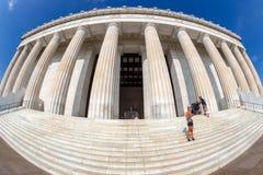 Grande vue d'angle avec Abraham Lincoln Memorial, Washington DC images libres de droits