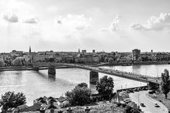 Grande vue d'angle de Novi Sad, Serbie photos stock