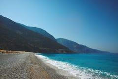 Grande vue de l'Oludeniz, Turquie, la mer Méditerranée Image stock