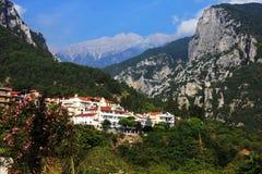 Grande vue du mont Olympe de Litochoro, Grèce images stock