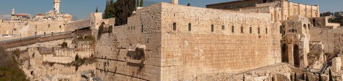Grande vue panoramique de mur occidental jérusalem photographie stock
