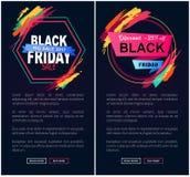 Grande web di vendita di Black Friday sull'illustrazione di vettore Fotografie Stock Libere da Diritti