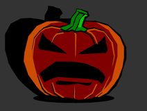 Grande zucca di Halloween Immagini Stock Libere da Diritti