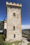Grandereis van Chateau DE Foix stock foto's
