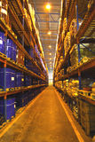 Grandes étagères d'entrepôt Photos libres de droits