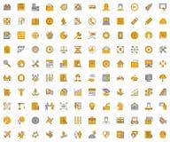 Grandes ícones lineares para o negócio Foto de Stock Royalty Free