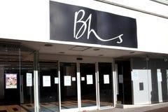 Grandes almacenes de BHS cerrados abajo Imagen de archivo