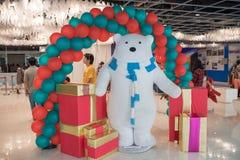 Grandes almacenes de Ekamai de la entrada que adornan para la Navidad y la celebración 2016 del Año Nuevo Imágenes de archivo libres de regalías